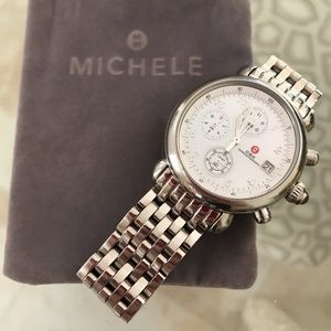 Michele CSX Chronograph Stainless Steel Watch
